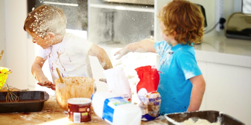 Parenting Flour Fight