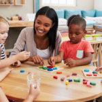 Kids with Teacher in Classroom