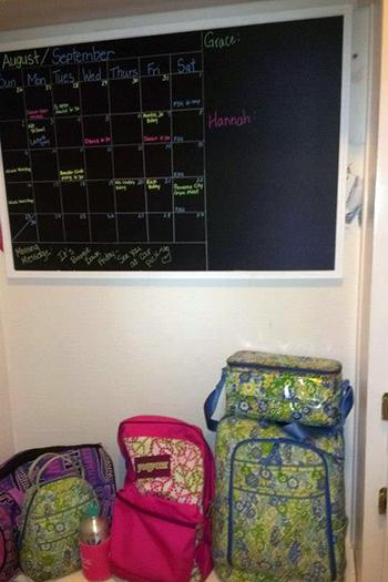 Hallway: Monthly Schedule