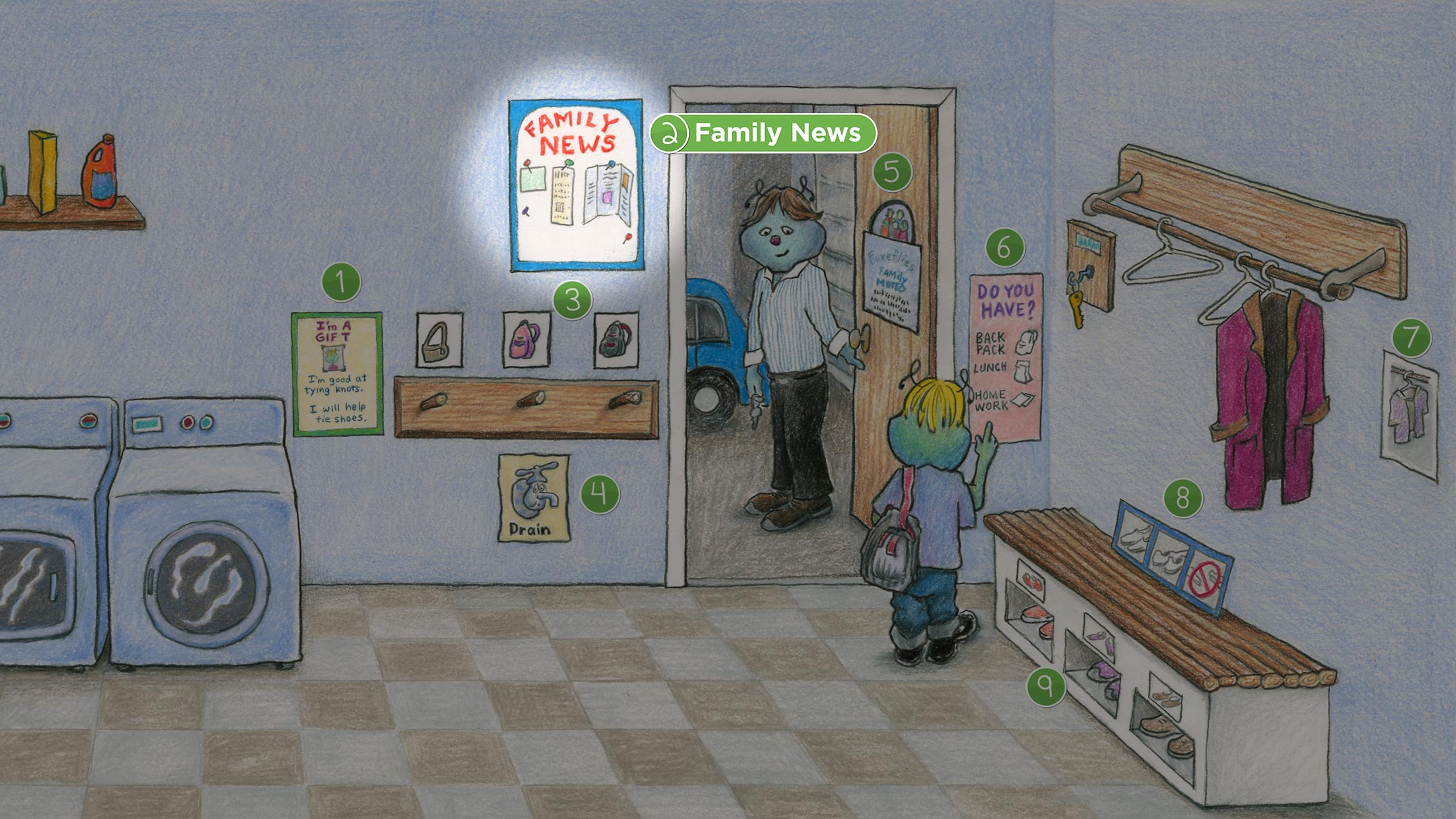 Laundry Room: Family News