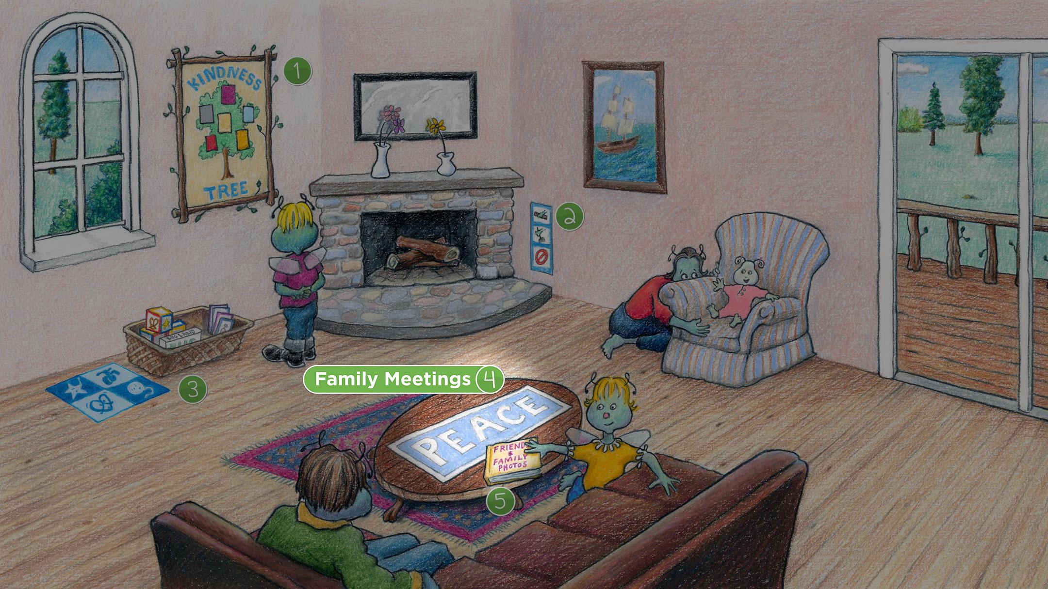Living Room: Family Meetings
