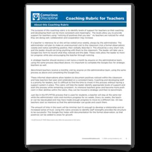 Coaching Rubric for Teachers
