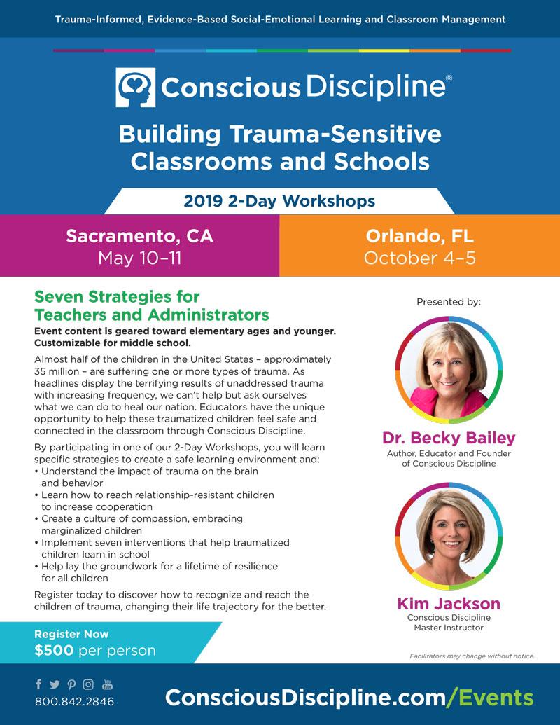 2019 Trauma Workshops Flyer