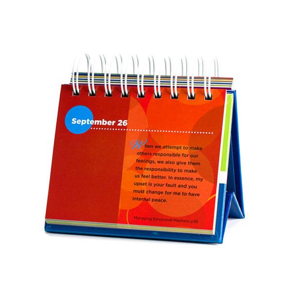 365 Days of Conscious Discipline (Perpetual Flip Calendar) - red middle of the calendar example