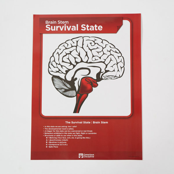 Brain State Poster - Survival State - Red - thumbnail