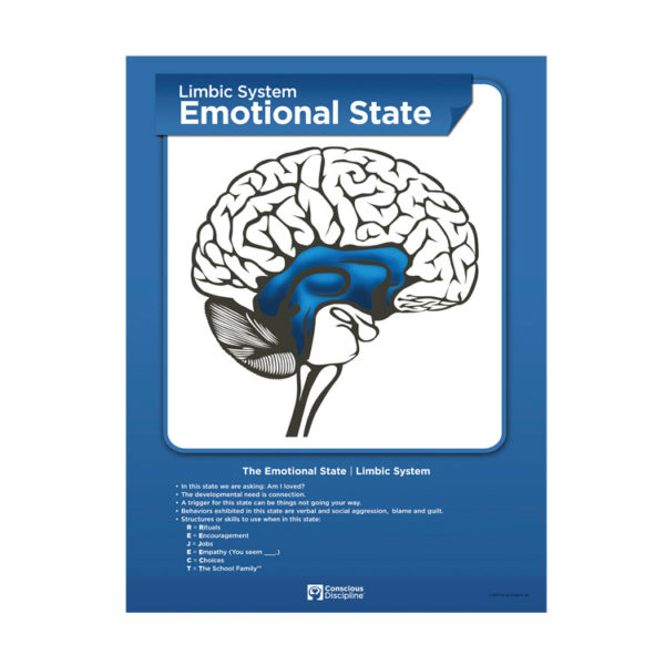 Brain State Poster Set - Emotional State - Limbic System - blue poster