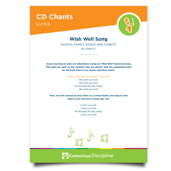Conscious Discipline Chants: Wish Well Song