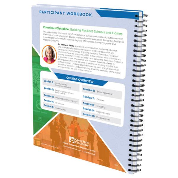 Conscious Discipline E-Course Participant Workbook - back of workbook - thumbnail