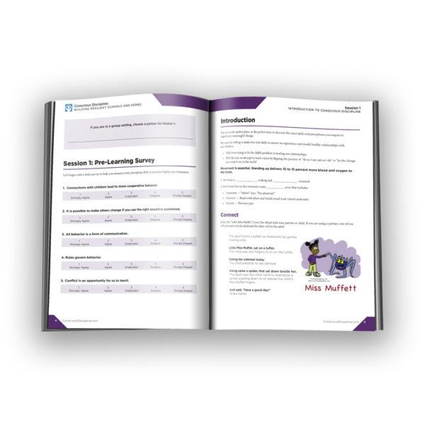 Conscious Discipline E-Course Participant Workbook - open workbook - thumbnail