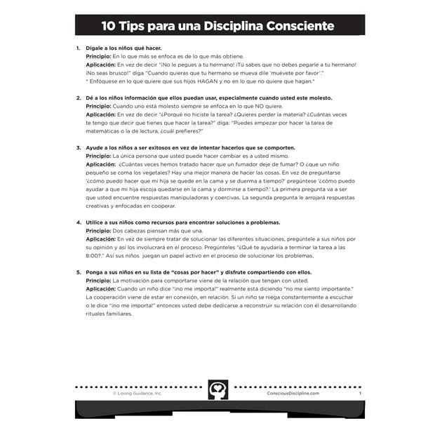 10 Consejos Para Una Disciplina Consciente