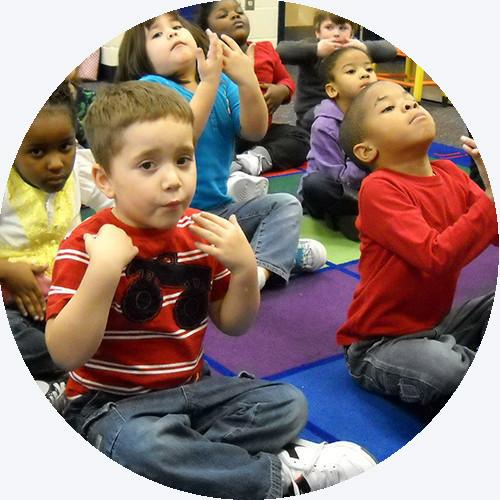 Kids taking a breath