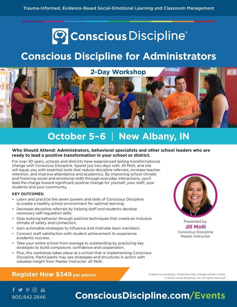 Workshop Flyer Conscious Discipline for Administrators