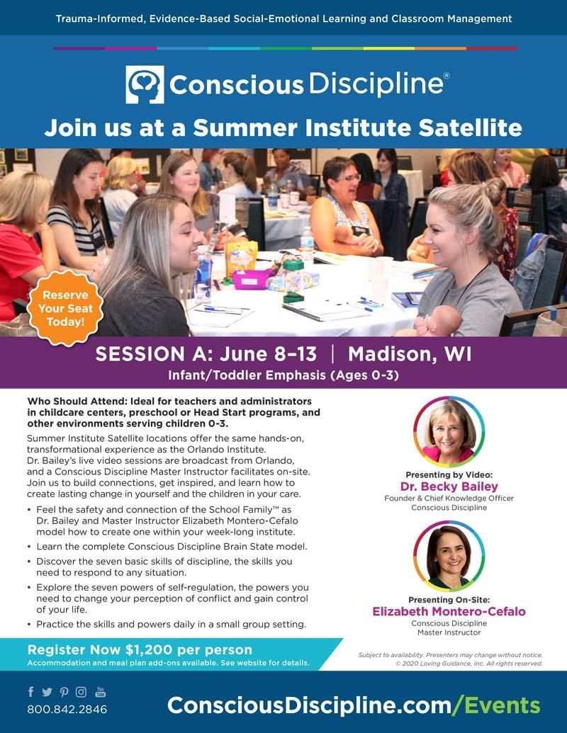 Institute Flyer Session A: Summer Institute (CD1) 2020 Satellite - Madison