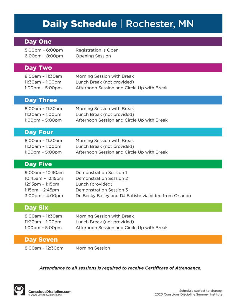Session B: Summer Institute (CD1) 2020 Satellite Rochester