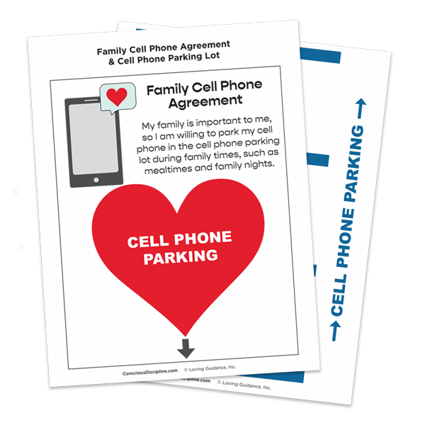 Family Cell Phone Agreement and Cell Phone Parking Lot