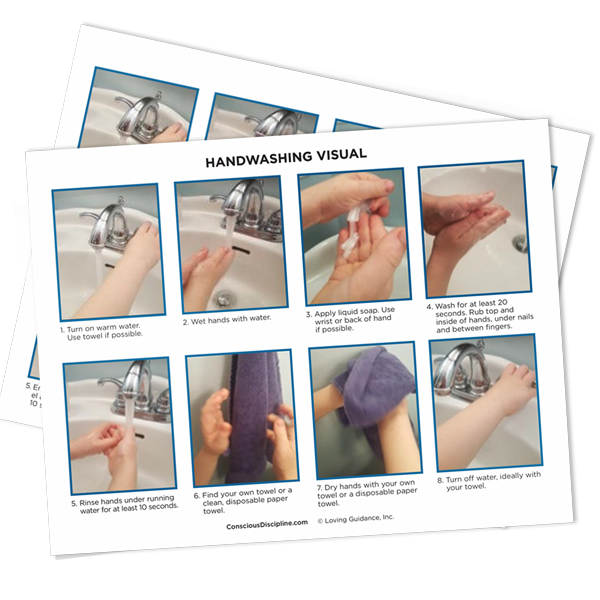 Handwashing Visual Procedures (English and Spanish)