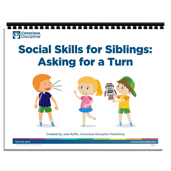 Sibling Social Stories - Asking for a Turn