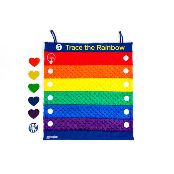 Active Calming Center Trace the Rainbow